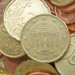 Stock Photo: Euro coins background
