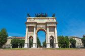Arco della pace, milão — Foto Stock