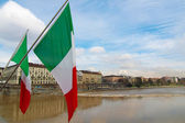 Flags, Turin, Italy — Stock Photo