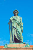 Schiller statue, Stuttgart — Stock Photo