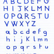Stock Photo: Handwritten alphabet letters