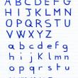 Handwritten alphabet letters — Stock Photo