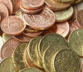 Euromynt bakgrund — Stockfoto