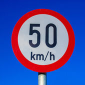 Speed limit sign — Stockfoto