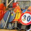 Roadworks signs — Stock Photo