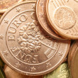 Euro coins background — Stock Photo #20936673