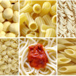 Pasta collage - Stock Photo