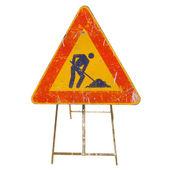 Znak drogowy pracy — Zdjęcie stockowe