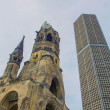 Bombed church, Berlin - Stock Photo