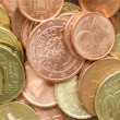 Euro coins background — Stock Photo #21042113