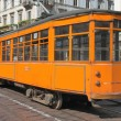 Stock Photo: Vintage tram, Milan