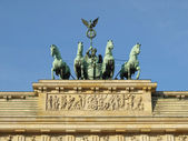 Brandenburger tor, em berlim — Foto Stock