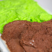 Crème glacée menthe chocolat — Photo