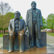 Marx-Engels Forum statue - Stock Photo
