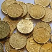 Monete in euro — Foto Stock