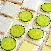 Sanduíche de pepino — Fotografia Stock