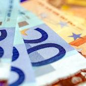 ユーロ bankonotes 背景 — ストック写真