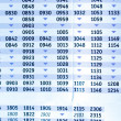 Timetable — Stock Photo #21388219