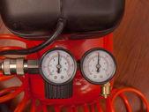 Air compressor manometer — Stock Photo