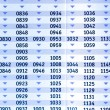 Timetable — Stock Photo #23068968