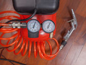 Air compressor manometer — Stock Photo