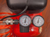Luft kompressor manometer — Stockfoto