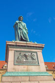 Schiller statue, Stuttgart — Stock Photo