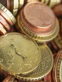 Fondo de monedas de euro — Foto de Stock