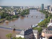 Vista aérea de frankfurt — Foto de Stock