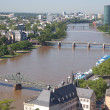 Aerial view of Frankfurt — Foto de Stock