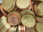 Euro coins background — 图库照片