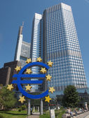 Frankfurt am Main, Germany - July 5, 2013: The world famous building of the European Central Bank. — Stock Photo