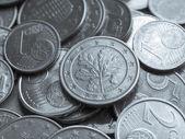 欧元硬币背景 — 图库照片