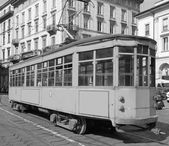 Tram d'epoca, Milano — Foto Stock