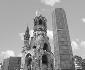 Ruins of bombed church, Berlin — Stock Photo