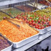 S potravinami — Stock fotografie