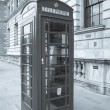 London telephone box — Stock Photo