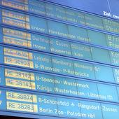 Fahrplan — Stockfoto