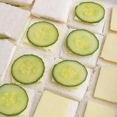 Cucumber sandwich — Stock Photo