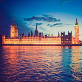 Retro look Houses of Parliament — Stock Photo