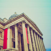 Vintage look National Gallery London — Stock Photo