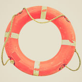 Retro görünüm lifebuoy — Stok fotoğraf