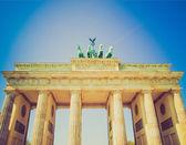 Retro look Brandenburger Tor, Berlin — Stock Photo