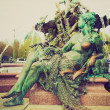 Retro look Neptunbrunnen — Stock Photo