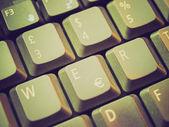 Clavier d'ordinateur look rétro — Photo