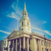 Vintage look St Martin church London — Stock Photo