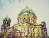 Retro look Berliner Dom — Stock Photo