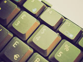 Retro look Computer keyboard — Stockfoto