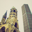Retro look Bombed church, Berlin — Stock Photo