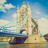 Look vintage tower bridge, londres — Foto de Stock